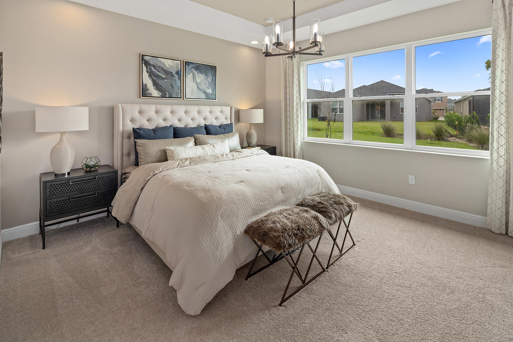 Glendale Plan Bedroom at Tohoqua in Kissimmee Florida by Mattamy Homes