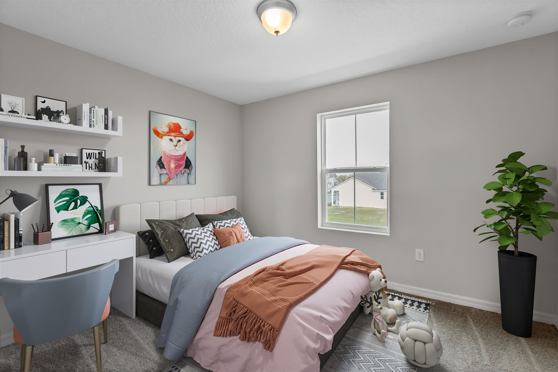 Graham Plan Bedroom at Tohoqua in Kissimmee Florida by Mattamy Homes