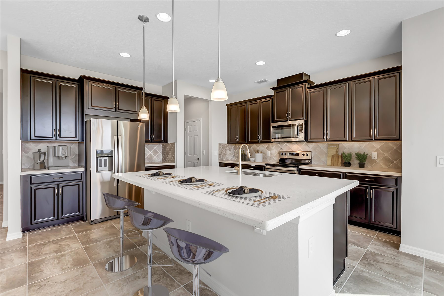 Graham Plan Kitchen at Tohoqua in Kissimmee Florida by Mattamy Homes
