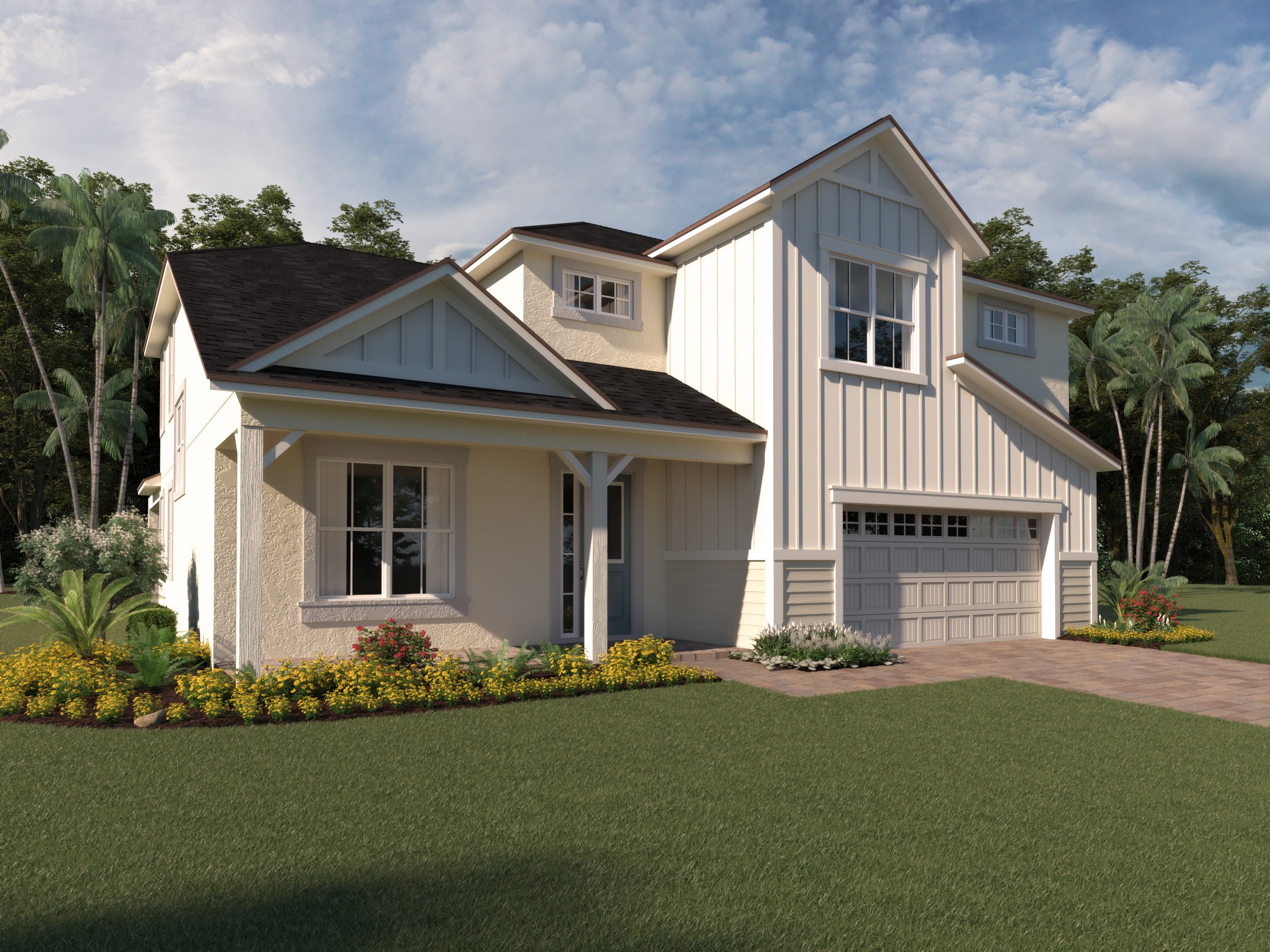Kensington Plan Elevation Front at Preserve at Crown Point in Ocoee Florida by Mattamy Homes
