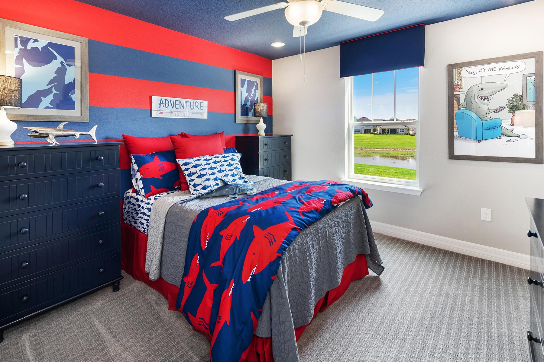 Kensington Plan Bedroom at Preserve at Crown Point in Ocoee Florida by Mattamy Homes