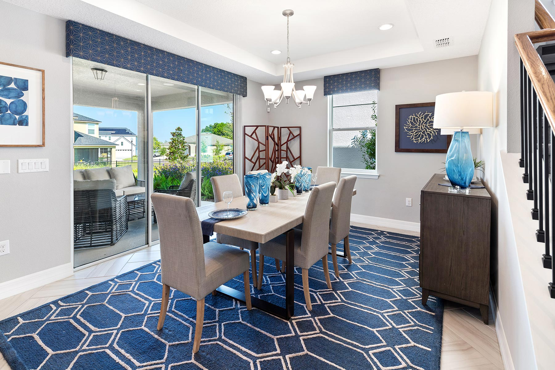 Kensington Plan Dining at Preserve at Crown Point in Ocoee Florida by Mattamy Homes