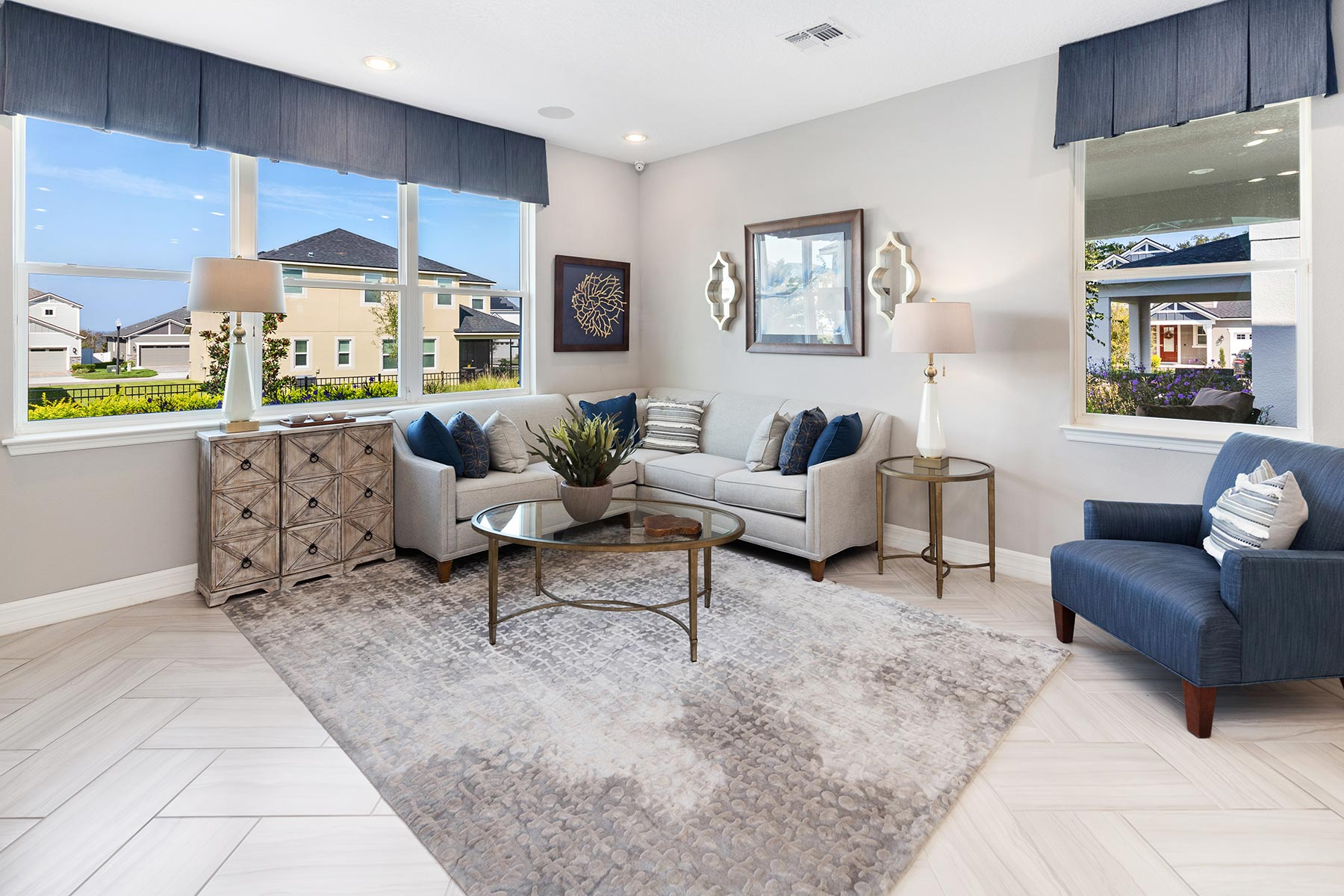 Kensington Plan Greatroom at Preserve at Crown Point in Ocoee Florida by Mattamy Homes