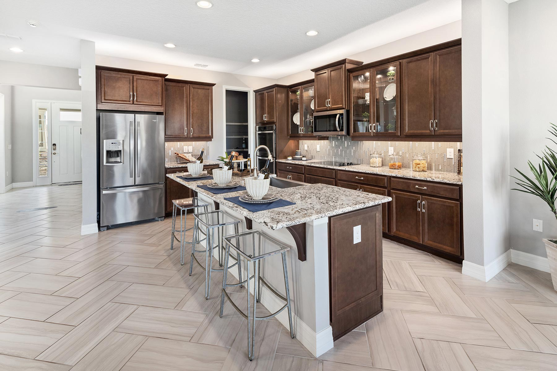 Kensington Plan Kitchen at Preserve at Crown Point in Ocoee Florida by Mattamy Homes
