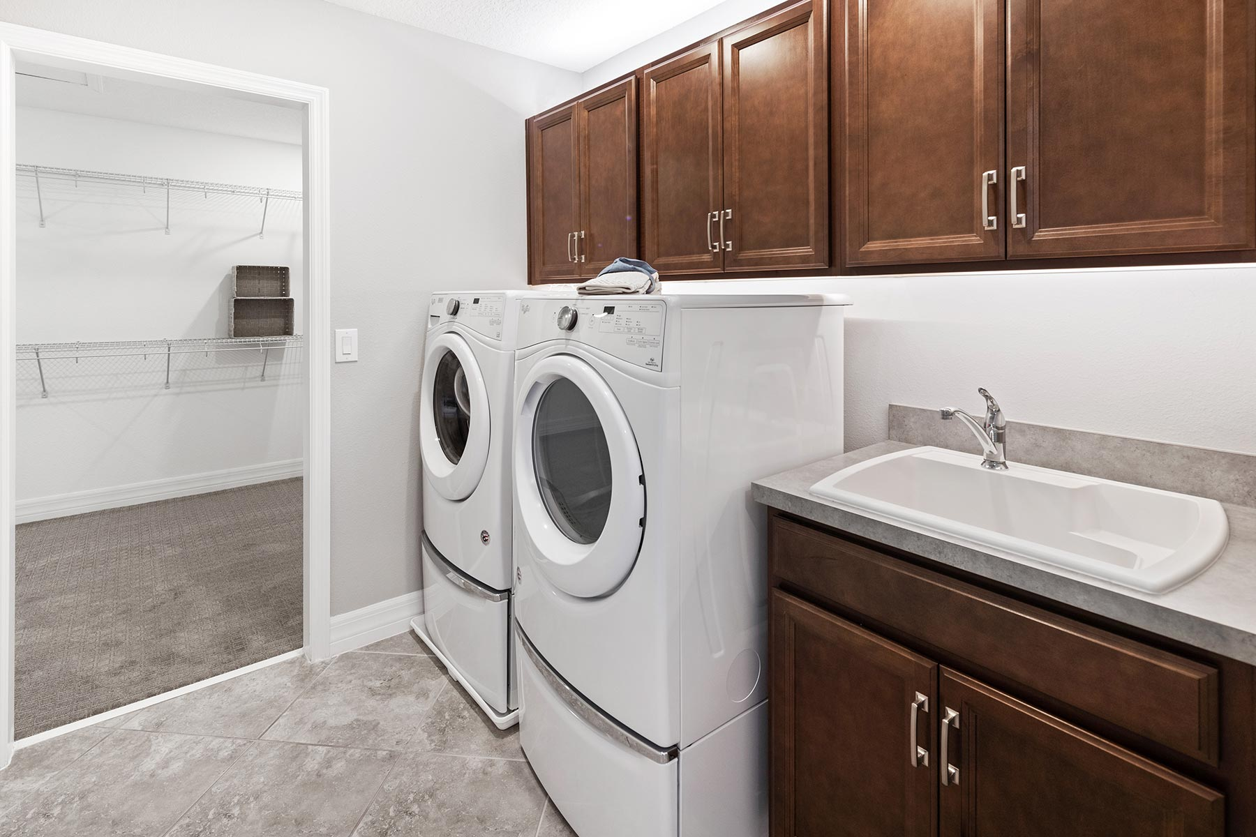 Kensington Plan Laundry at Preserve at Crown Point in Ocoee Florida by Mattamy Homes