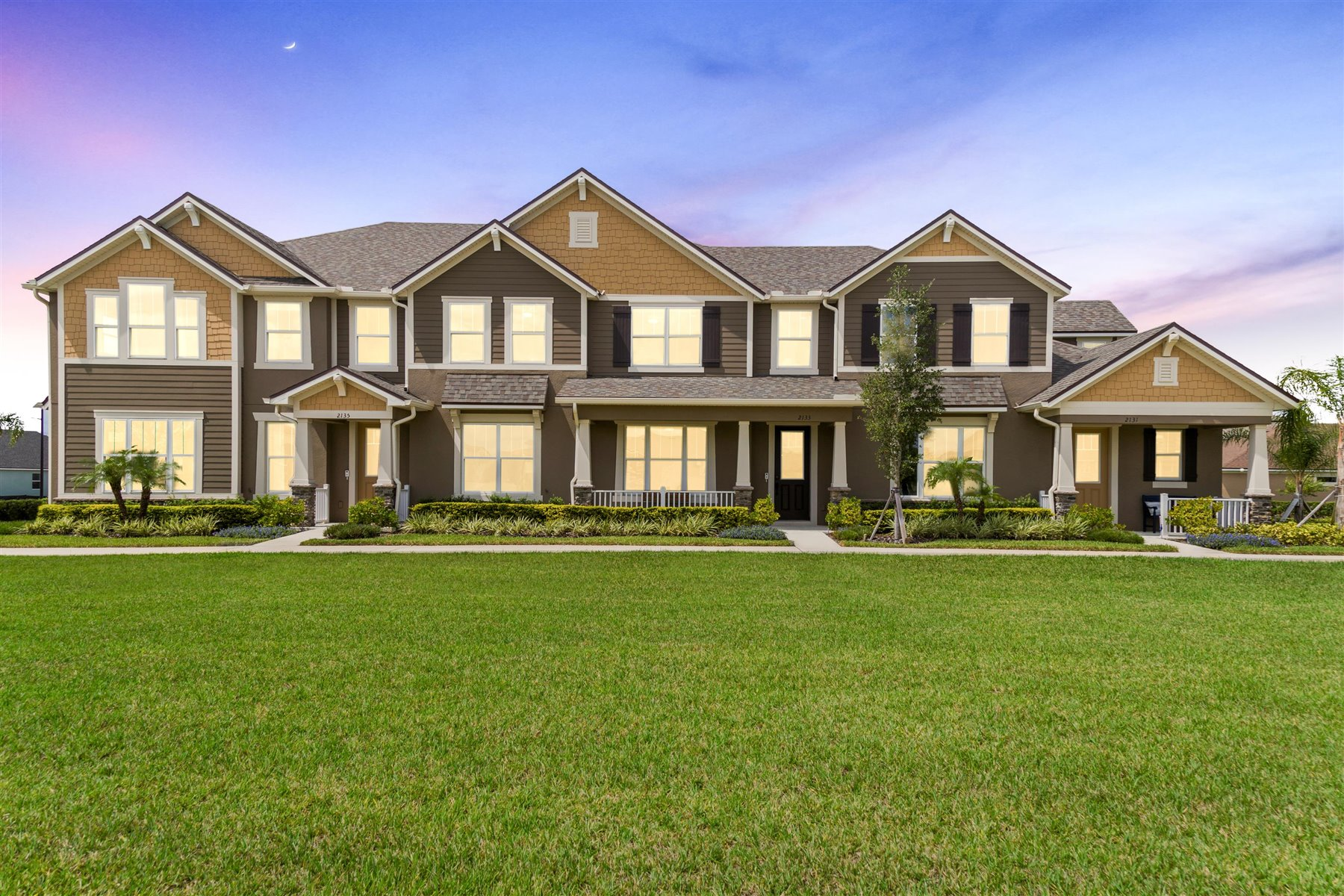 Francesca III Plan Elevation Front at Randal Walk in Orlando Florida by Mattamy Homes