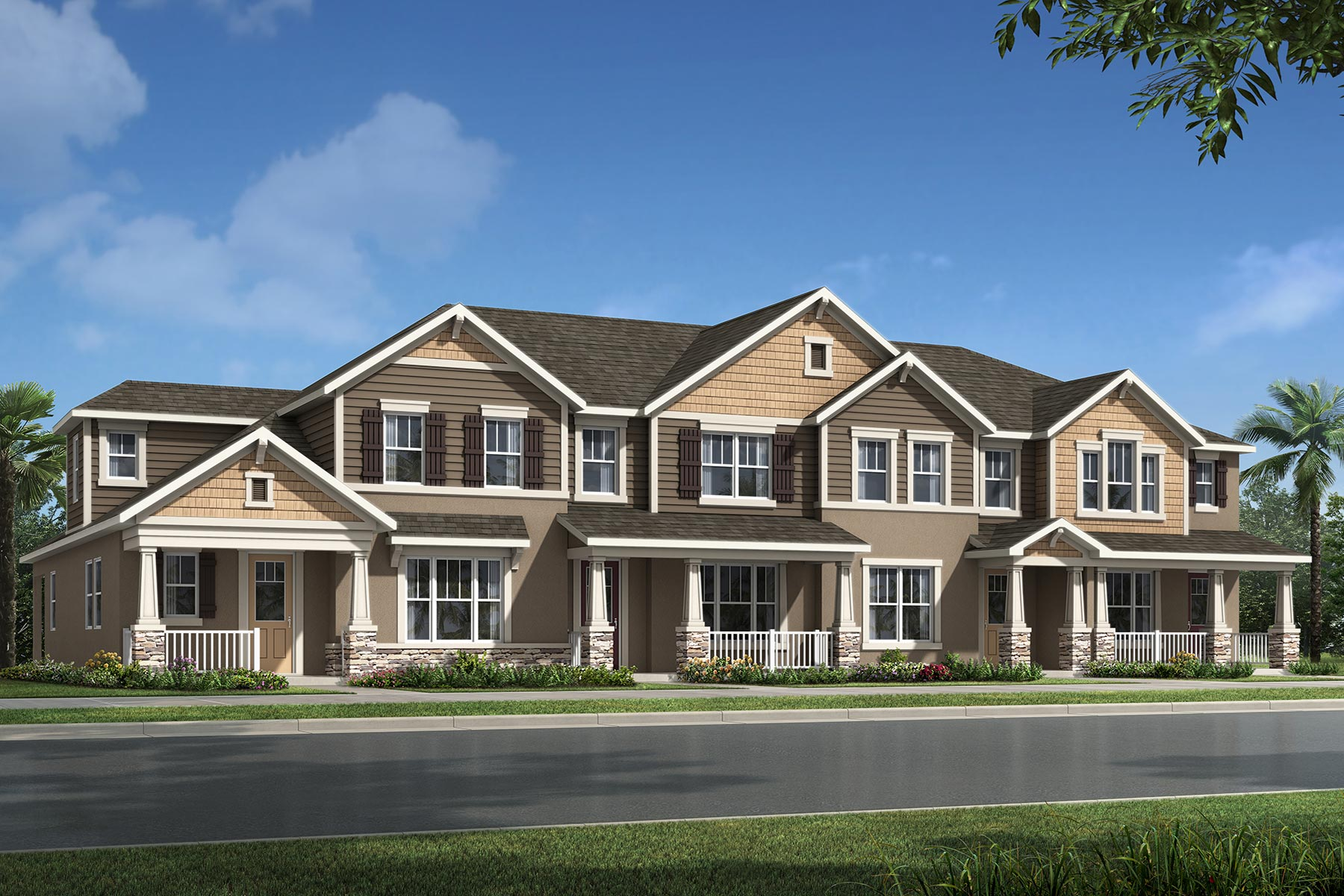 Marabel III Plan TownHomes at Randal Walk in Orlando Florida by Mattamy Homes