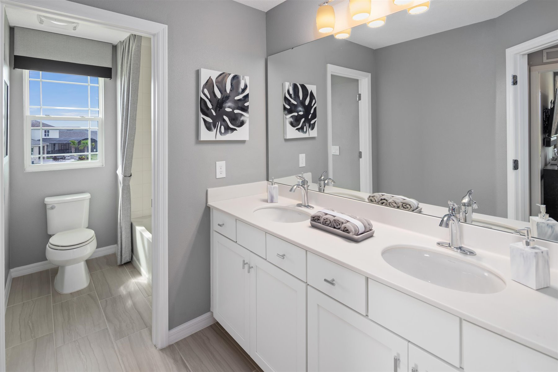 Marabel III Plan Bath at Randal Walk in Orlando Florida by Mattamy Homes