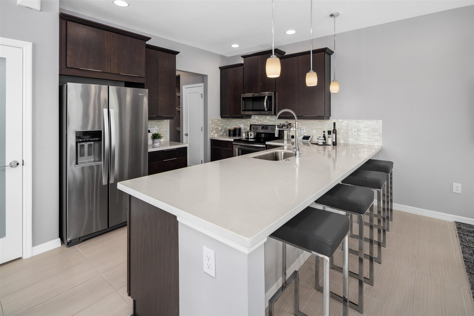 Marabel III Plan Kitchen at Randal Walk in Orlando Florida by Mattamy Homes