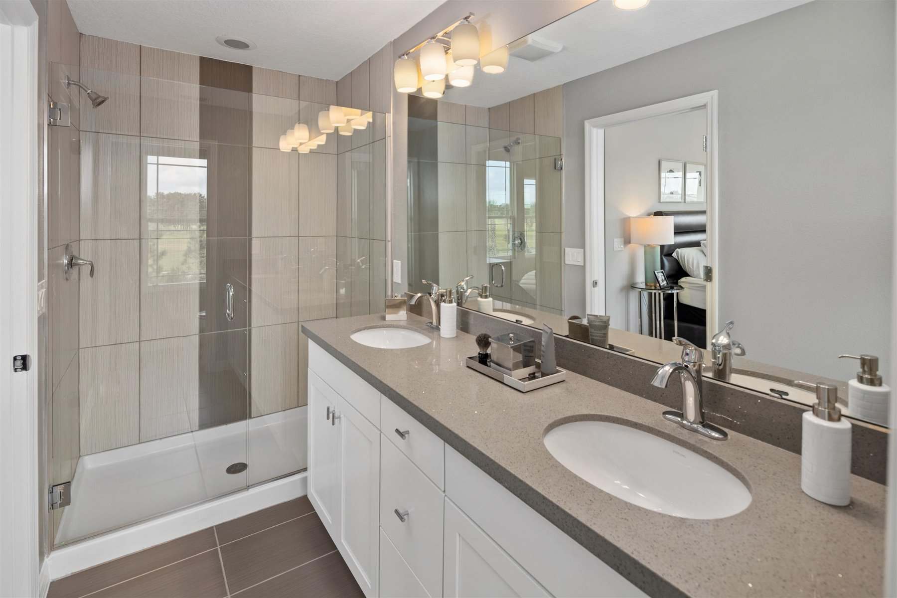 Marabel III Plan Bathroom_Master Bath at Randal Walk in Orlando Florida by Mattamy Homes