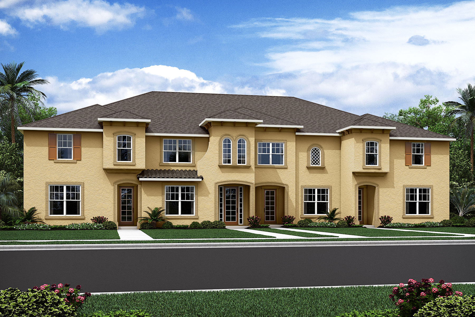 Bayside Plan TownHomes at Solara Resort in Kissimmee Florida by Mattamy Homes