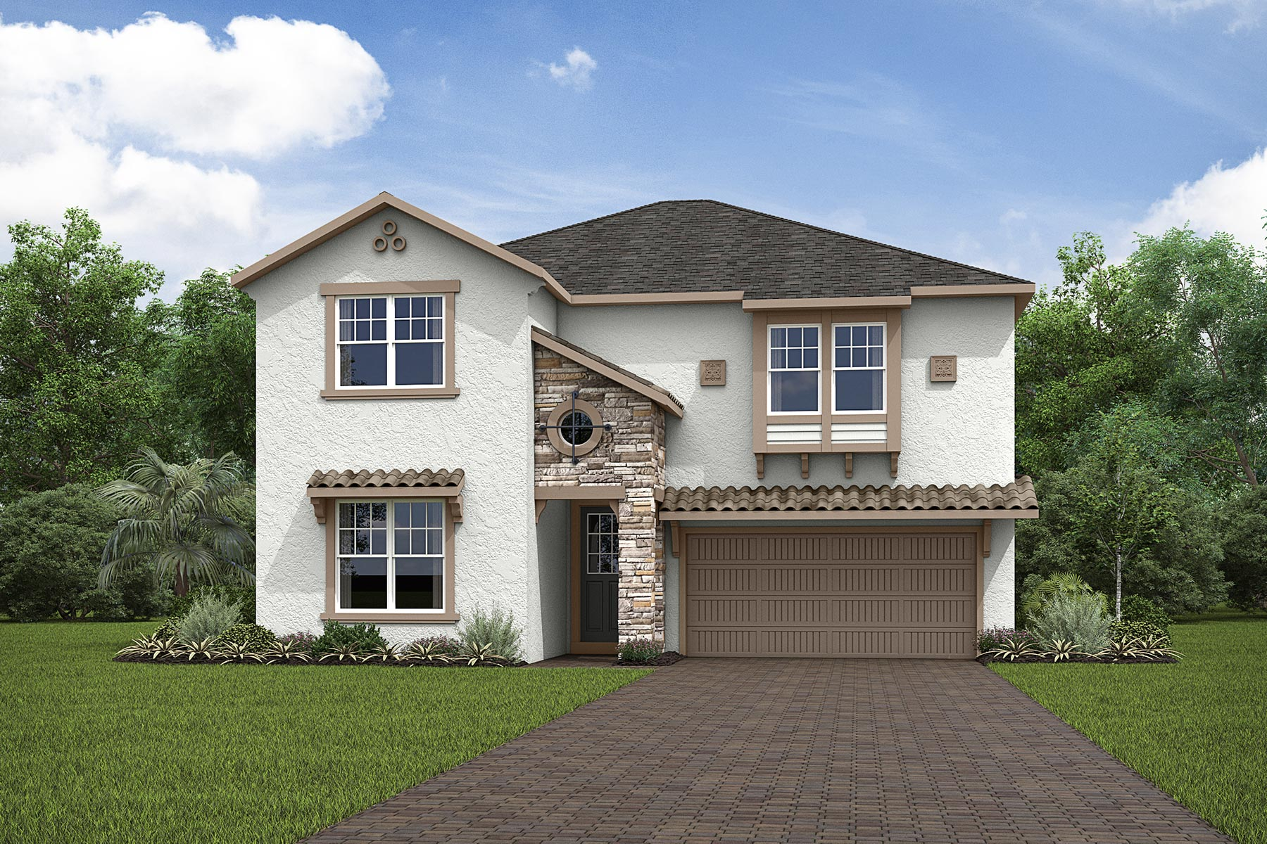 Cabo II Plan Elevation Front at Solara Resort in Kissimmee Florida by Mattamy Homes