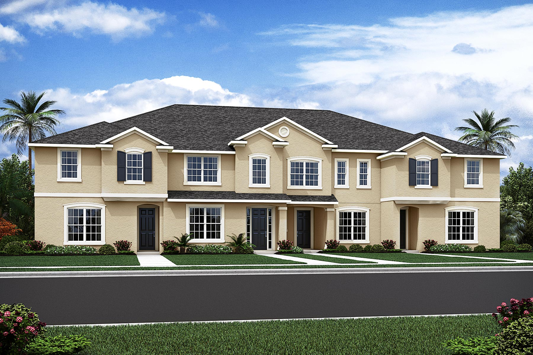 Clearwater Plan TownHomes at Solara Resort in Kissimmee Florida by Mattamy Homes