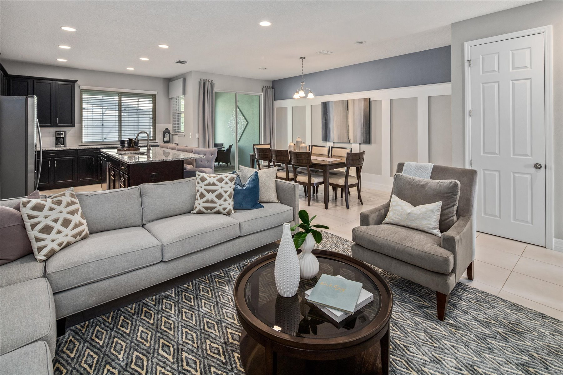 Clearwater Plan Greatroom at Solara Resort in Kissimmee Florida by Mattamy Homes