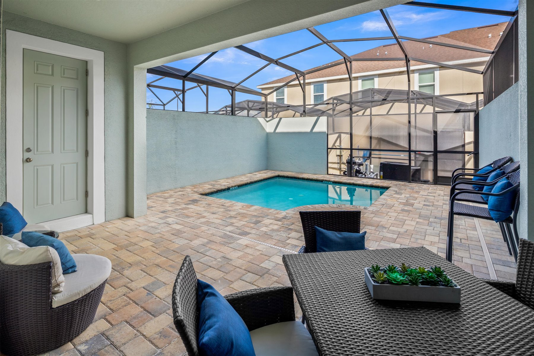 Clearwater Plan Patio at Solara Resort in Kissimmee Florida by Mattamy Homes