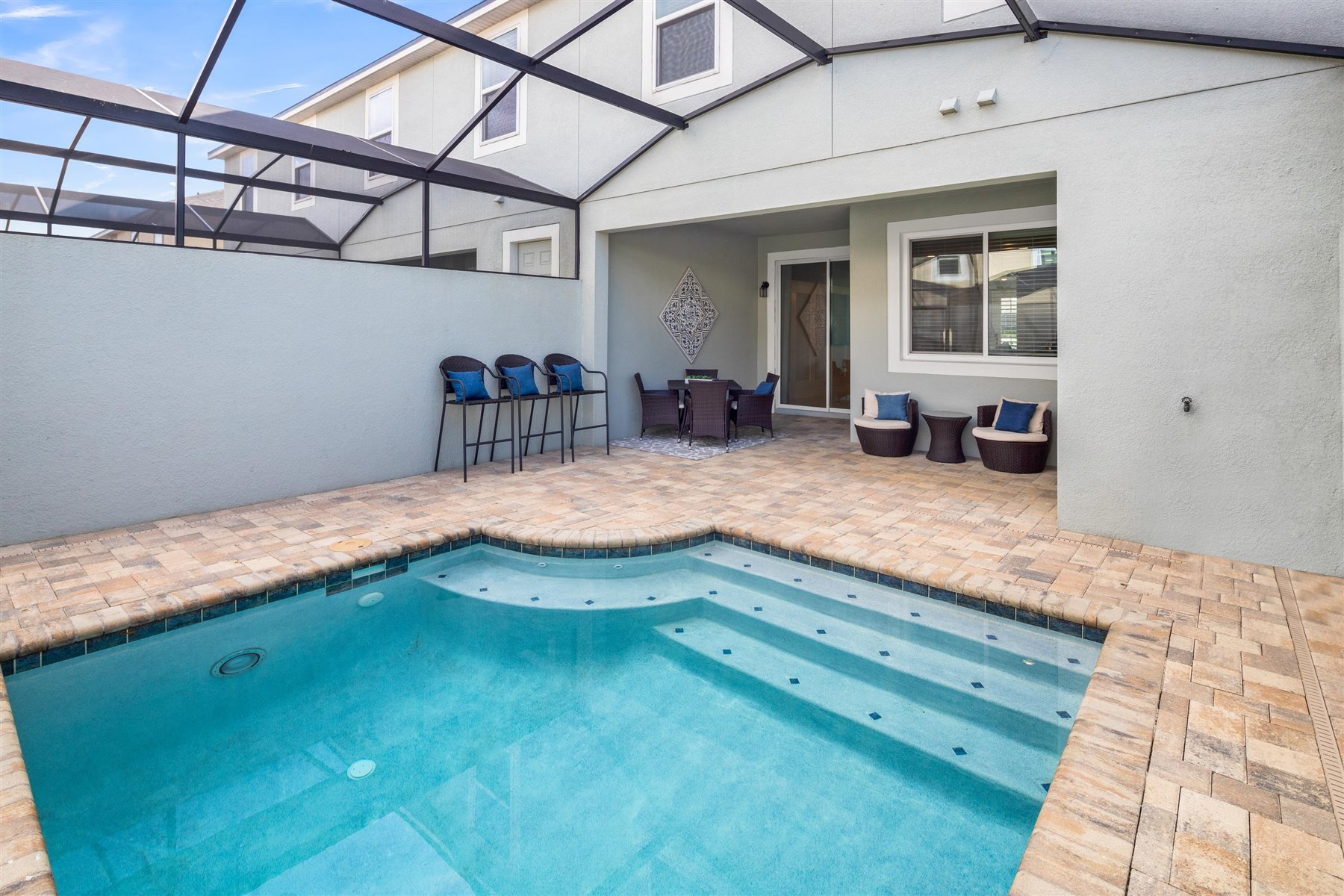 Clearwater Plan WaterFeatures at Solara Resort in Kissimmee Florida by Mattamy Homes