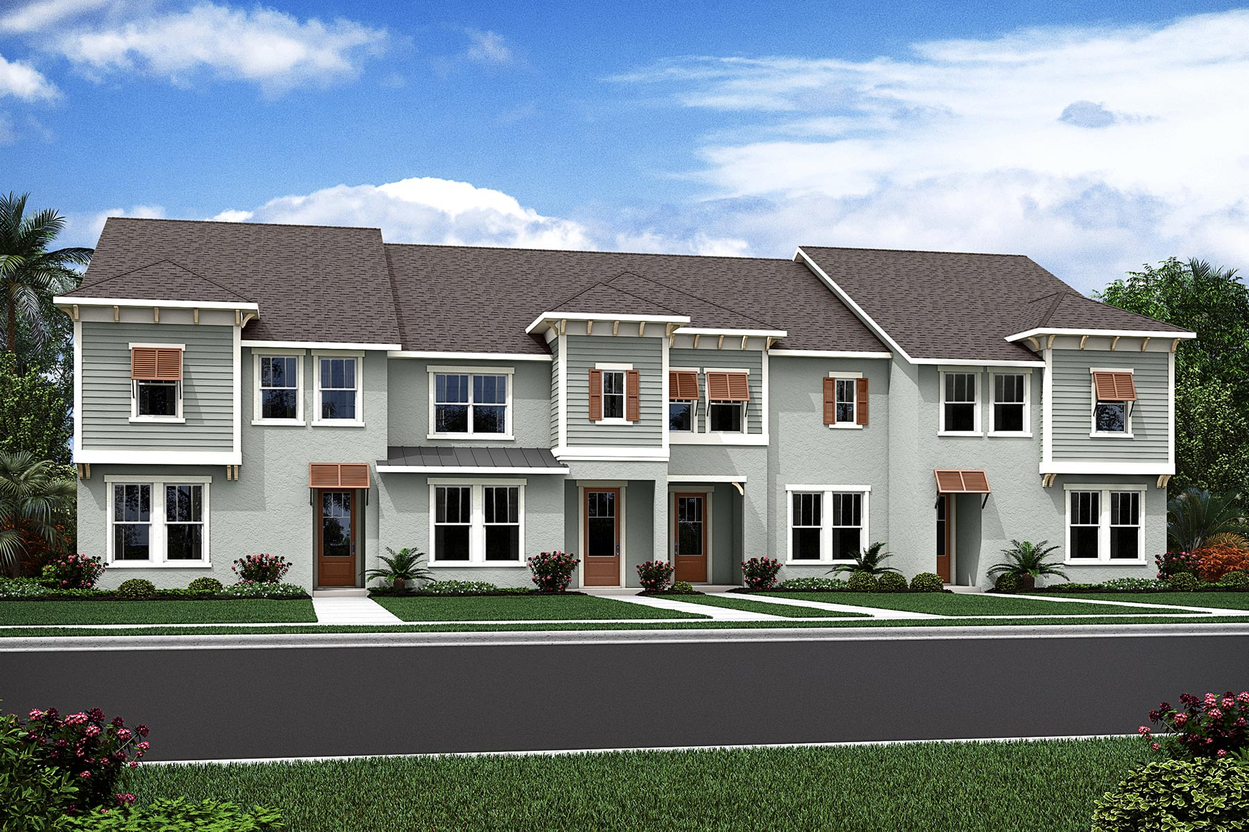 Del Ray Plan TownHomes at Solara Resort in Kissimmee Florida by Mattamy Homes