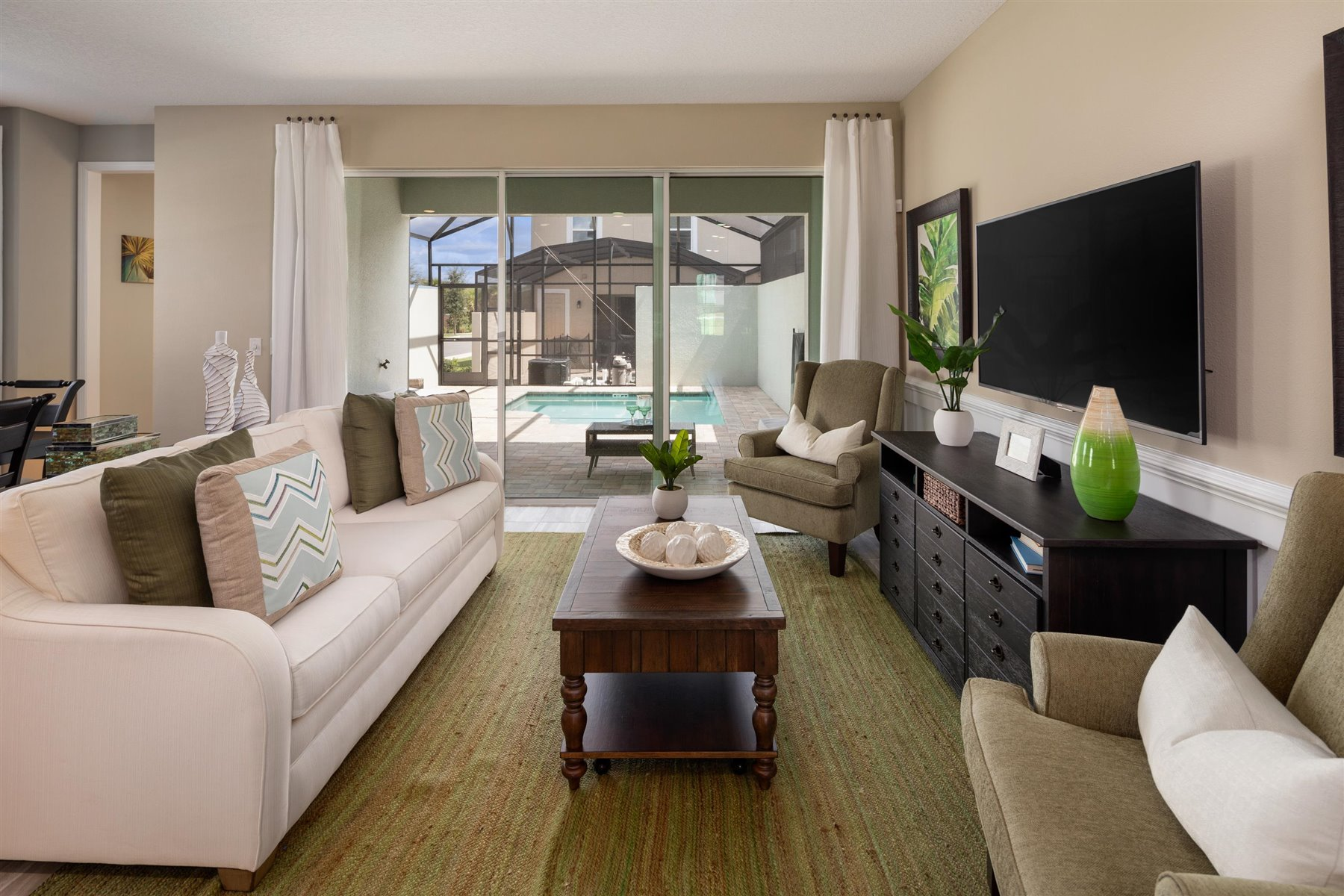 Del Ray Plan Greatroom at Solara Resort in Kissimmee Florida by Mattamy Homes
