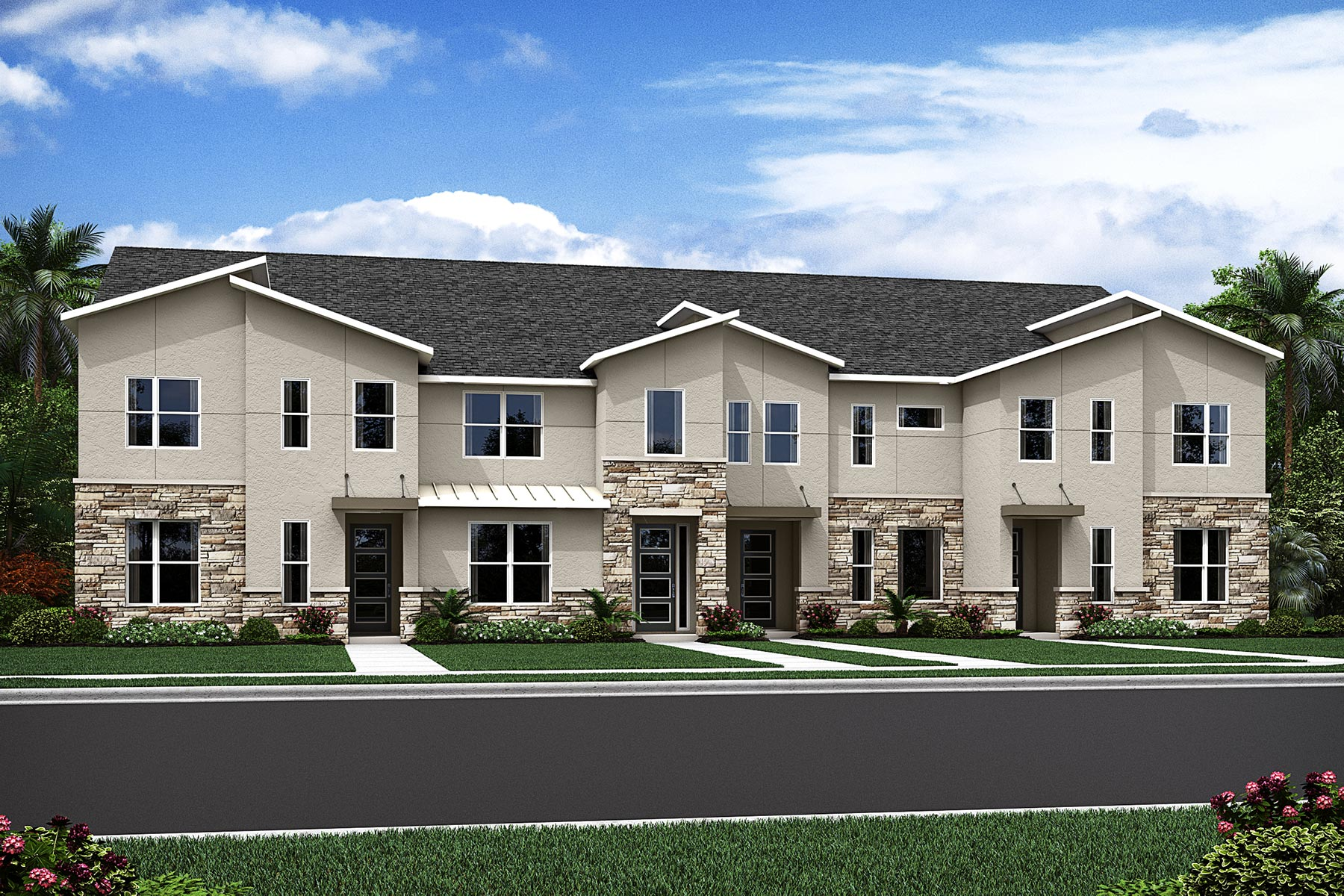 Destin Plan TownHomes at Solara Resort in Kissimmee Florida by Mattamy Homes