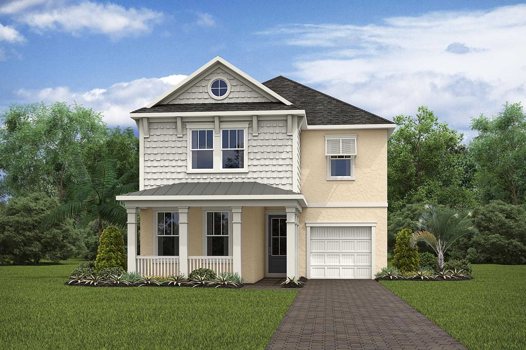Malibu II Plan Elevation Front at Solara Resort in Kissimmee Florida by Mattamy Homes