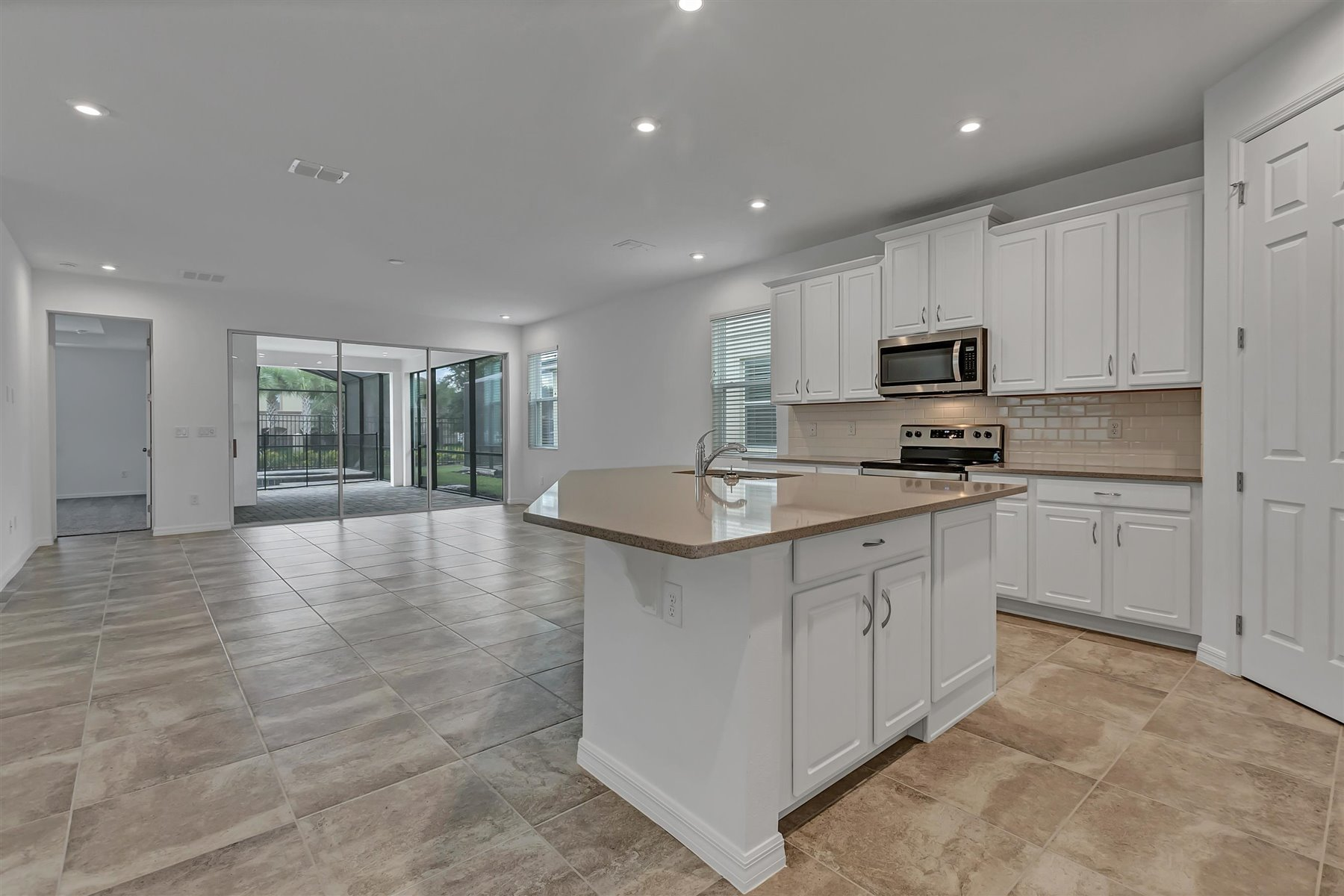 Malibu II Plan Kitchen at Solara Resort in Kissimmee Florida by Mattamy Homes