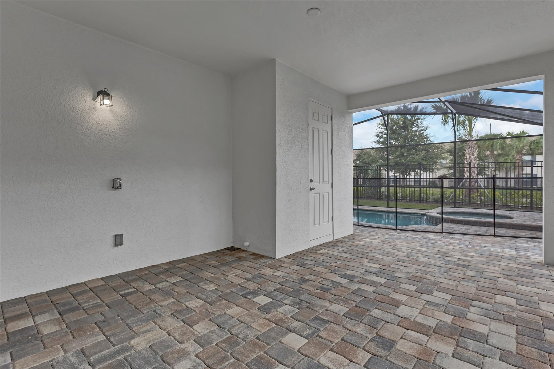 Malibu II Plan Patio at Solara Resort in Kissimmee Florida by Mattamy Homes