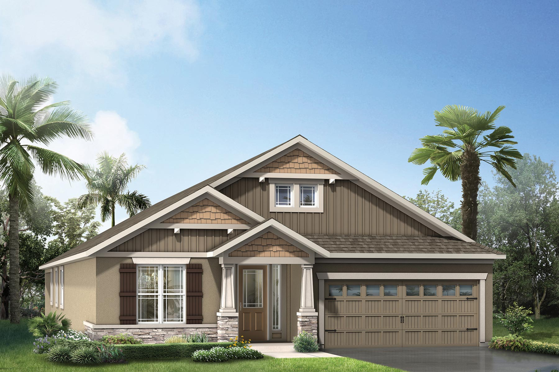 Dominica Plan Elevation Front at Tapestry in Kissimmee Florida by Mattamy Homes