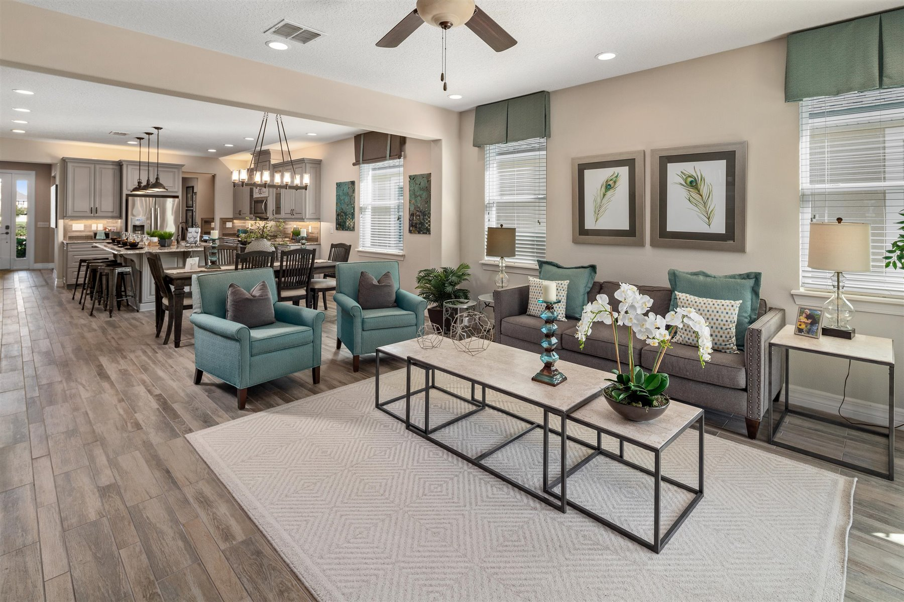 Dominica Plan Greatroom at Tapestry in Kissimmee Florida by Mattamy Homes