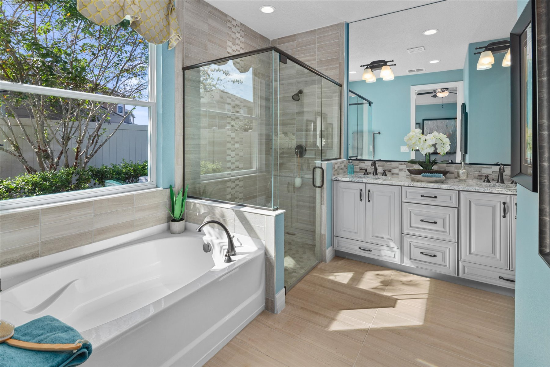 Dominica Plan Bathroom_Master Bath at Tapestry in Kissimmee Florida by Mattamy Homes