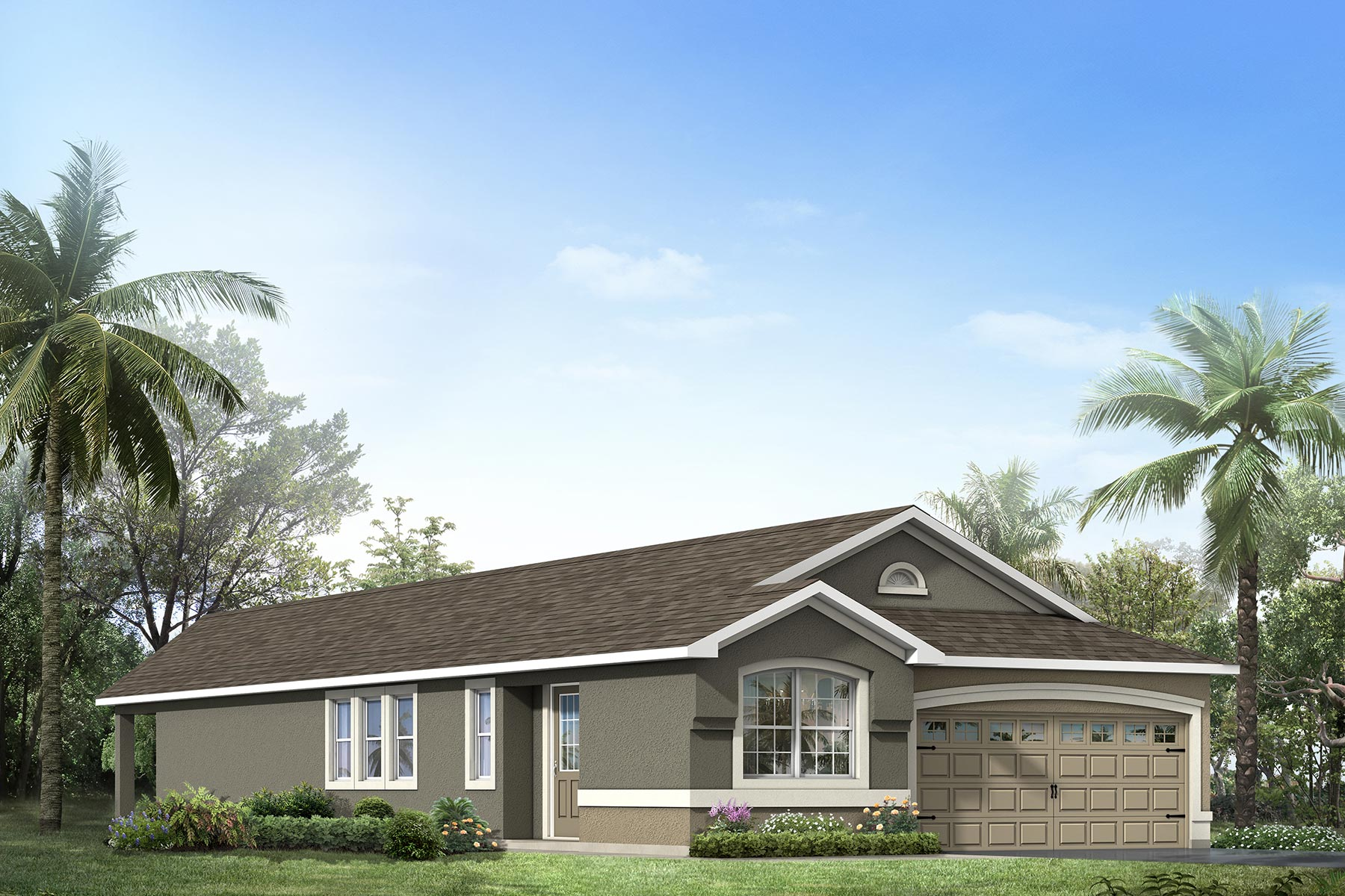 Gardenia Plan Elevation Front at Tapestry in Kissimmee Florida by Mattamy Homes