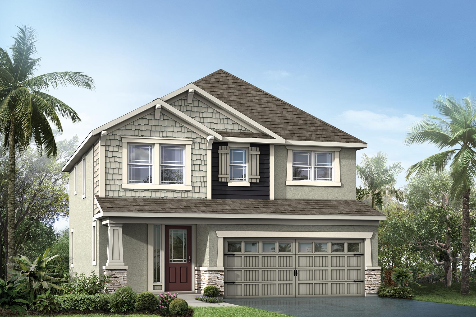 Holly Plan Elevation Front at Tapestry in Kissimmee Florida by Mattamy Homes
