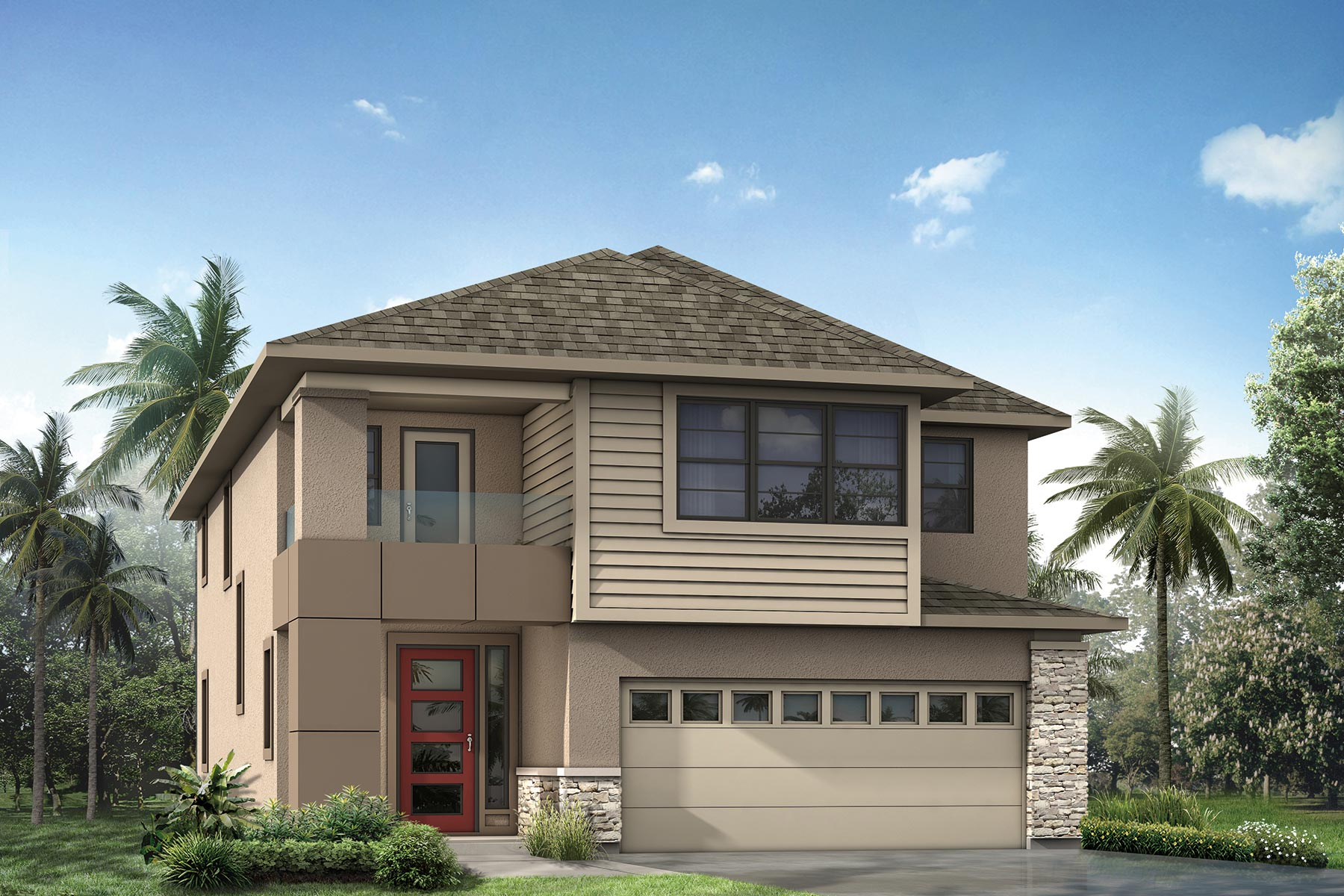 Palmetto Plan Elevation Front at Tapestry in Kissimmee Florida by Mattamy Homes