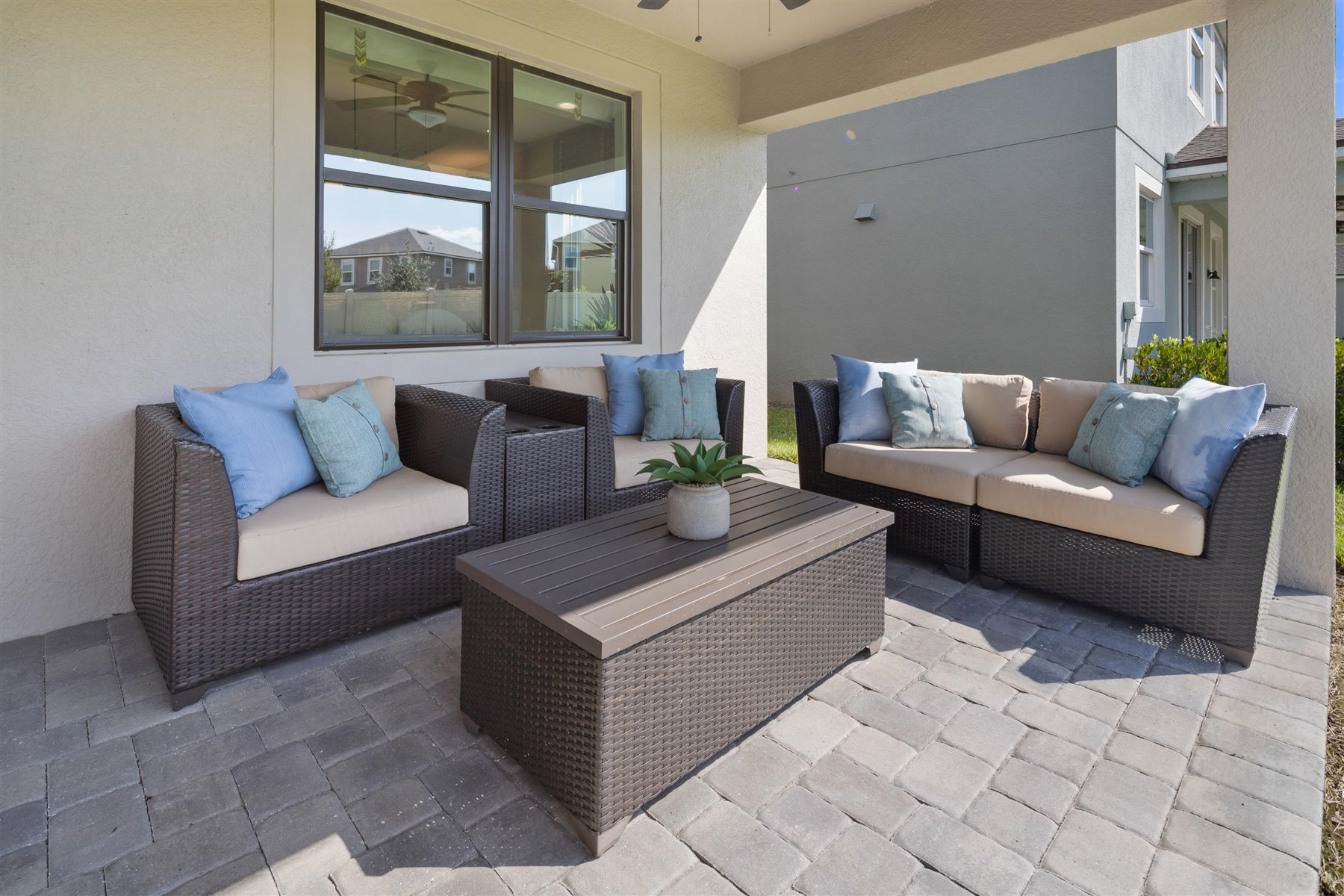 Palmetto Plan Patio at Tapestry in Kissimmee Florida by Mattamy Homes