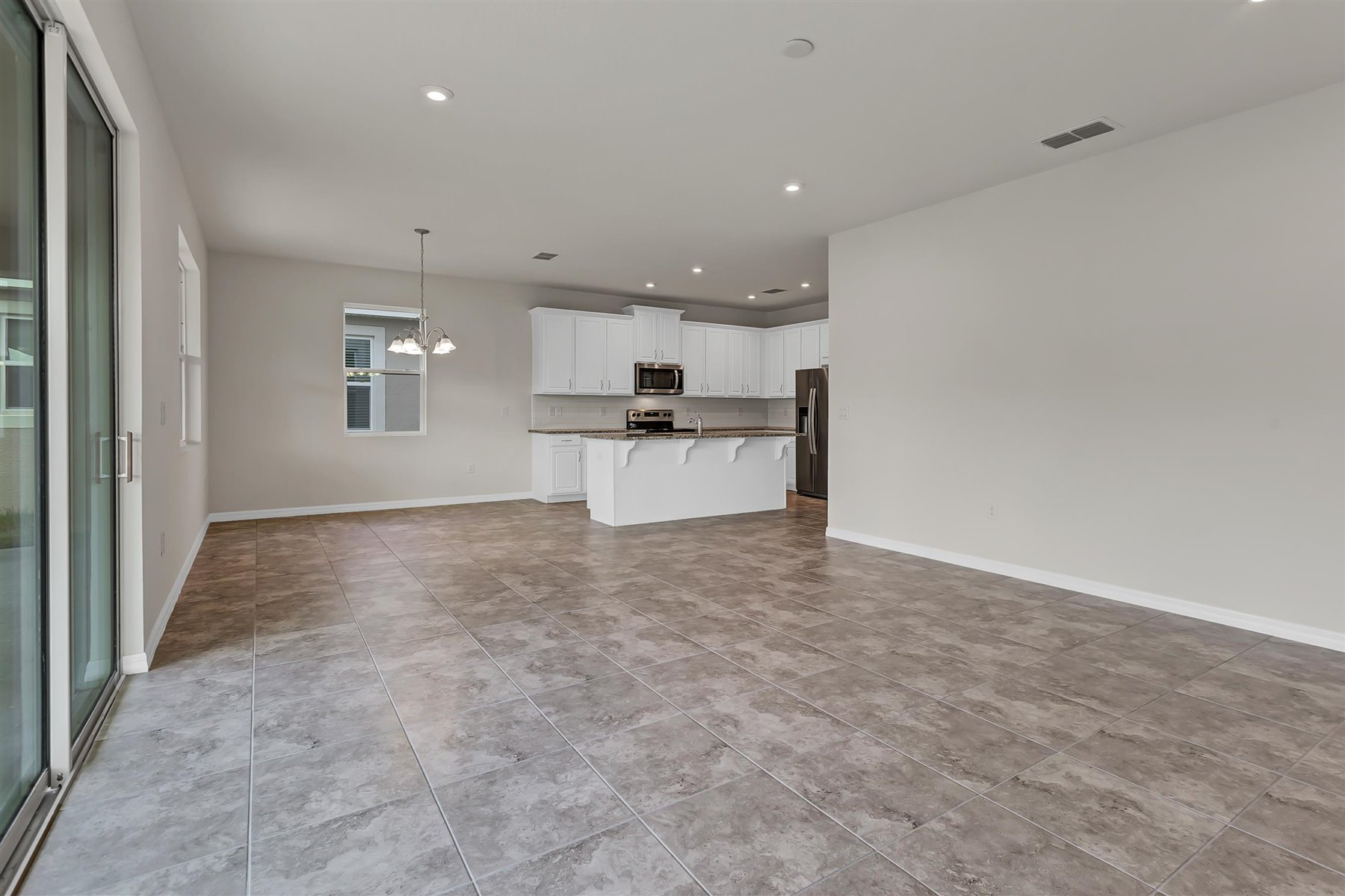 Palmetto Plan Greatroom at Tapestry in Kissimmee Florida by Mattamy Homes