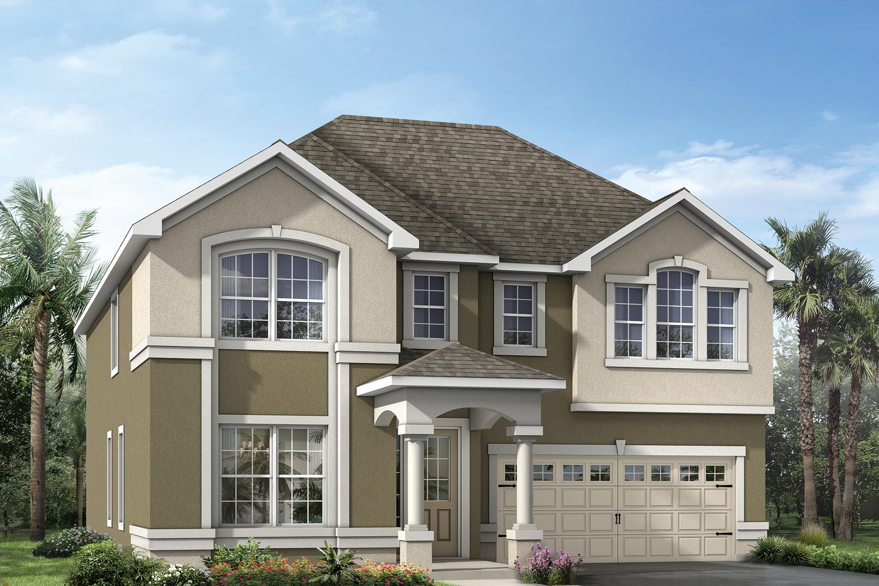 Winthrop Plan Elevation Front at Tapestry in Kissimmee Florida by Mattamy Homes