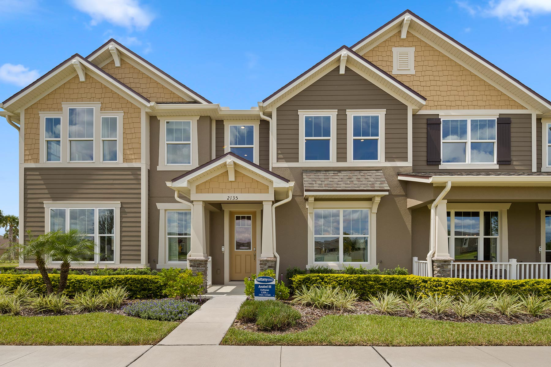 Anabel III Plan Elevation Front at Waterbrooke in Clermont Florida by Mattamy Homes