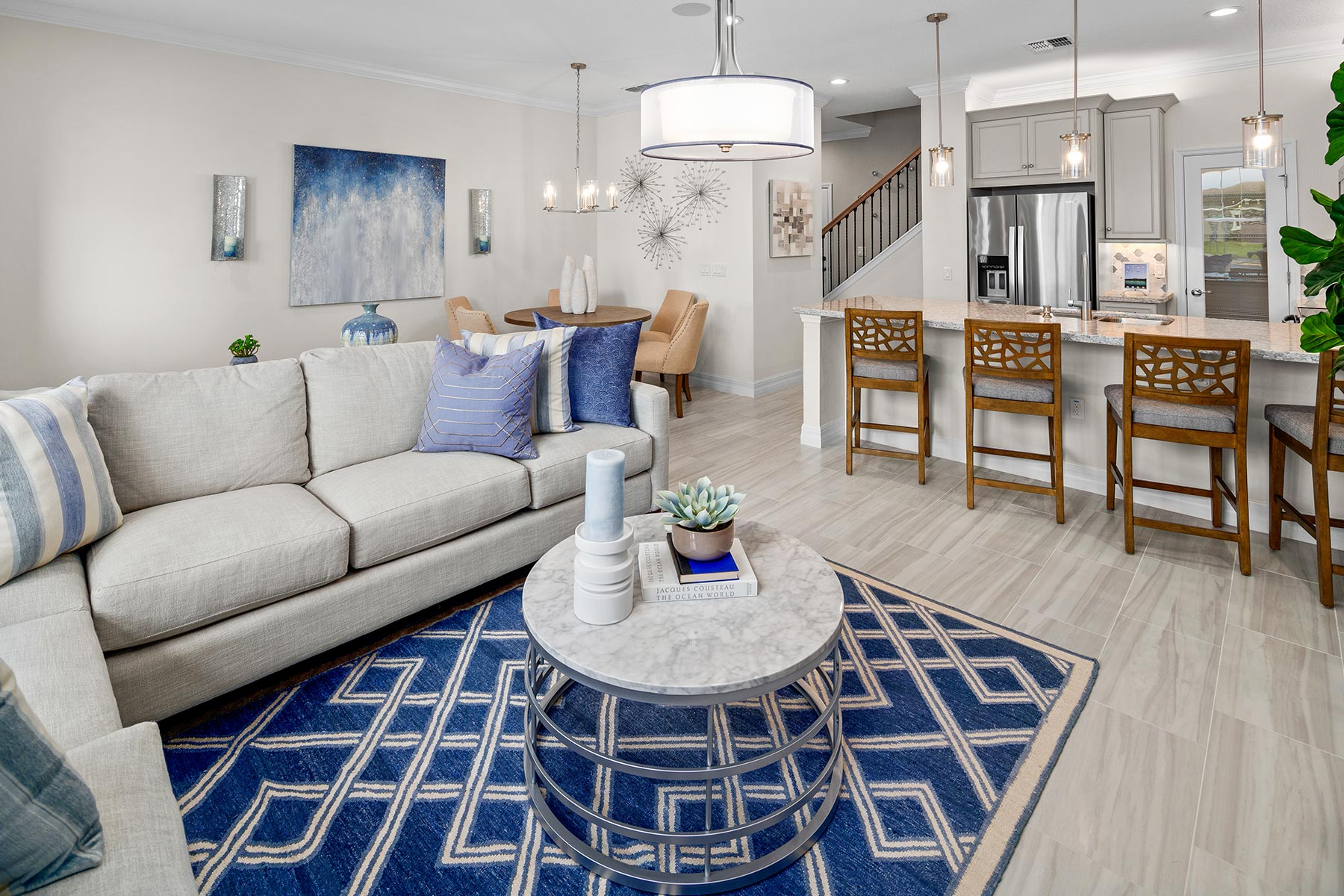Anabel III Plan Greatroom at Waterbrooke in Clermont Florida by Mattamy Homes