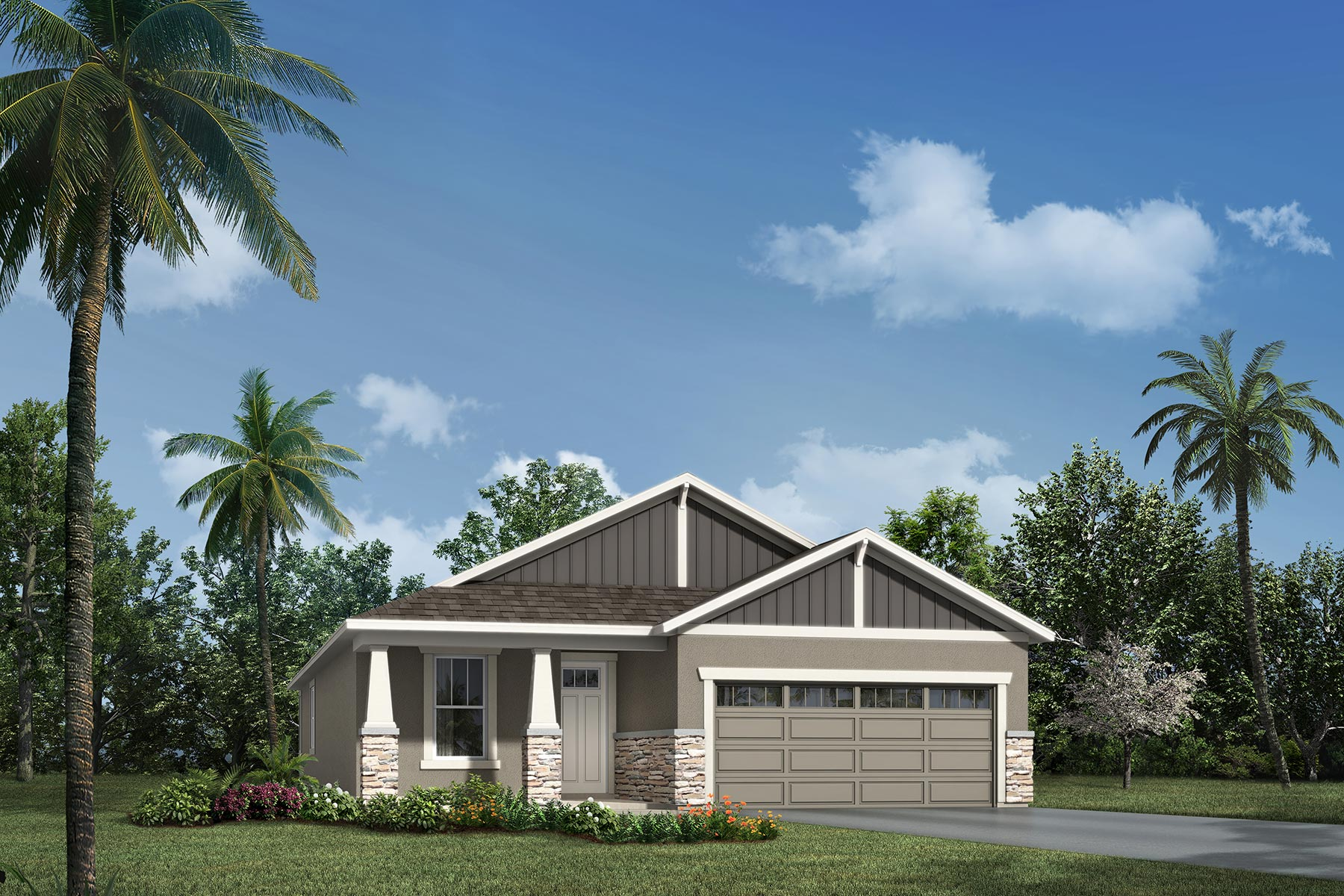 Barton Plan Elevation Front at Tohoqua in Kissimmee Florida by Mattamy Homes