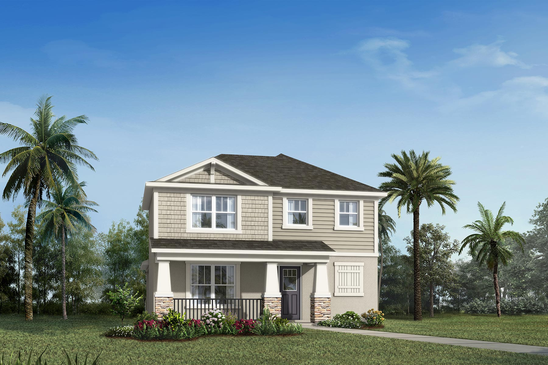 Belmont Plan Elevation Front at Tohoqua in Kissimmee Florida by Mattamy Homes