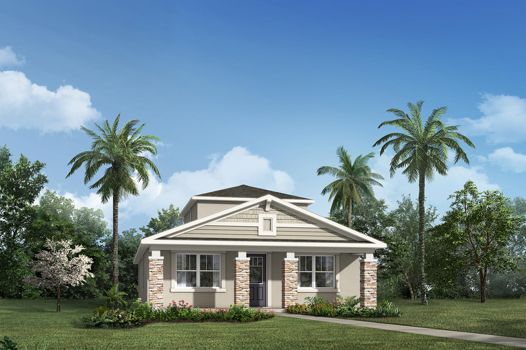 Bristol Plan Elevation Front at Tohoqua in Kissimmee Florida by Mattamy Homes