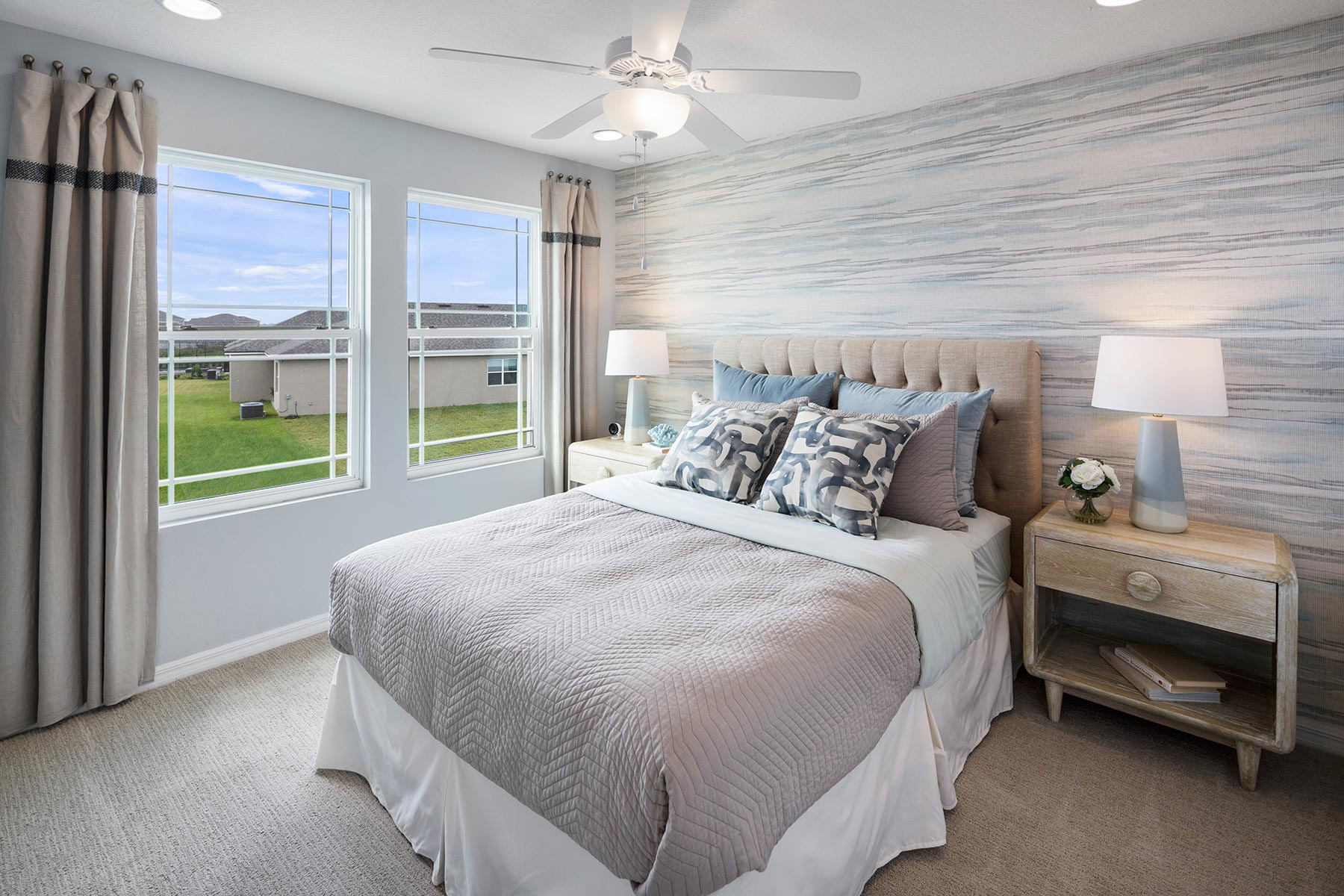 Camilla III Plan Bedroom at Waterbrooke in Clermont Florida by Mattamy Homes