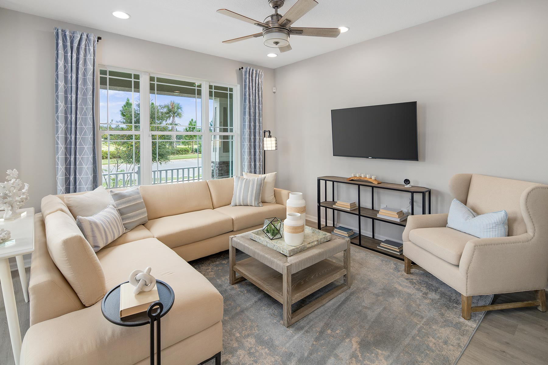 Camilla III Plan Greatroom at Waterbrooke in Clermont Florida by Mattamy Homes