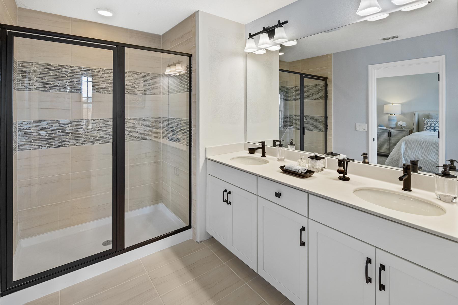 Camilla III Plan Bathroom_Master Bath at Waterbrooke in Clermont Florida by Mattamy Homes