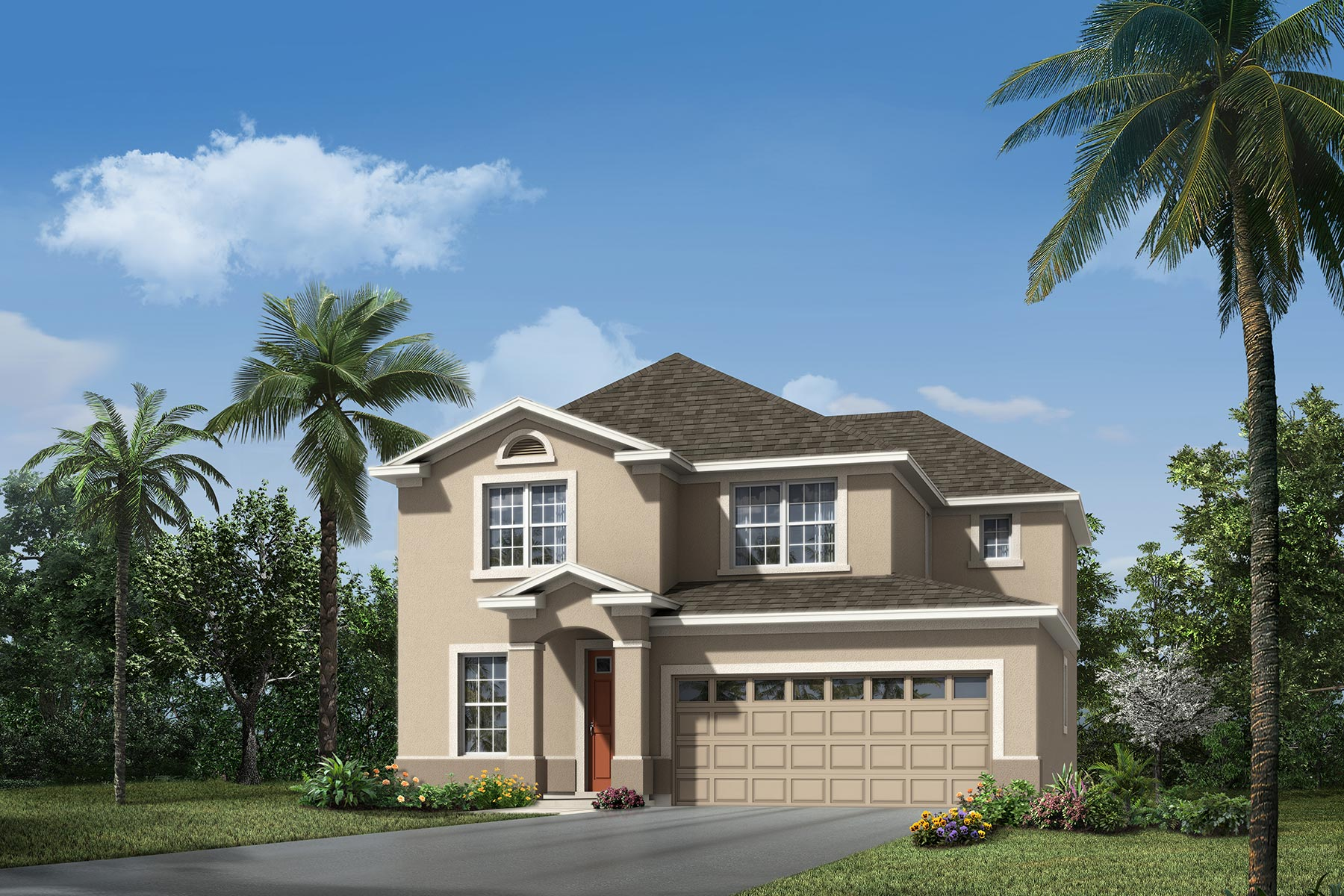 Campbell Plan Elevation Front at Tohoqua in Kissimmee Florida by Mattamy Homes