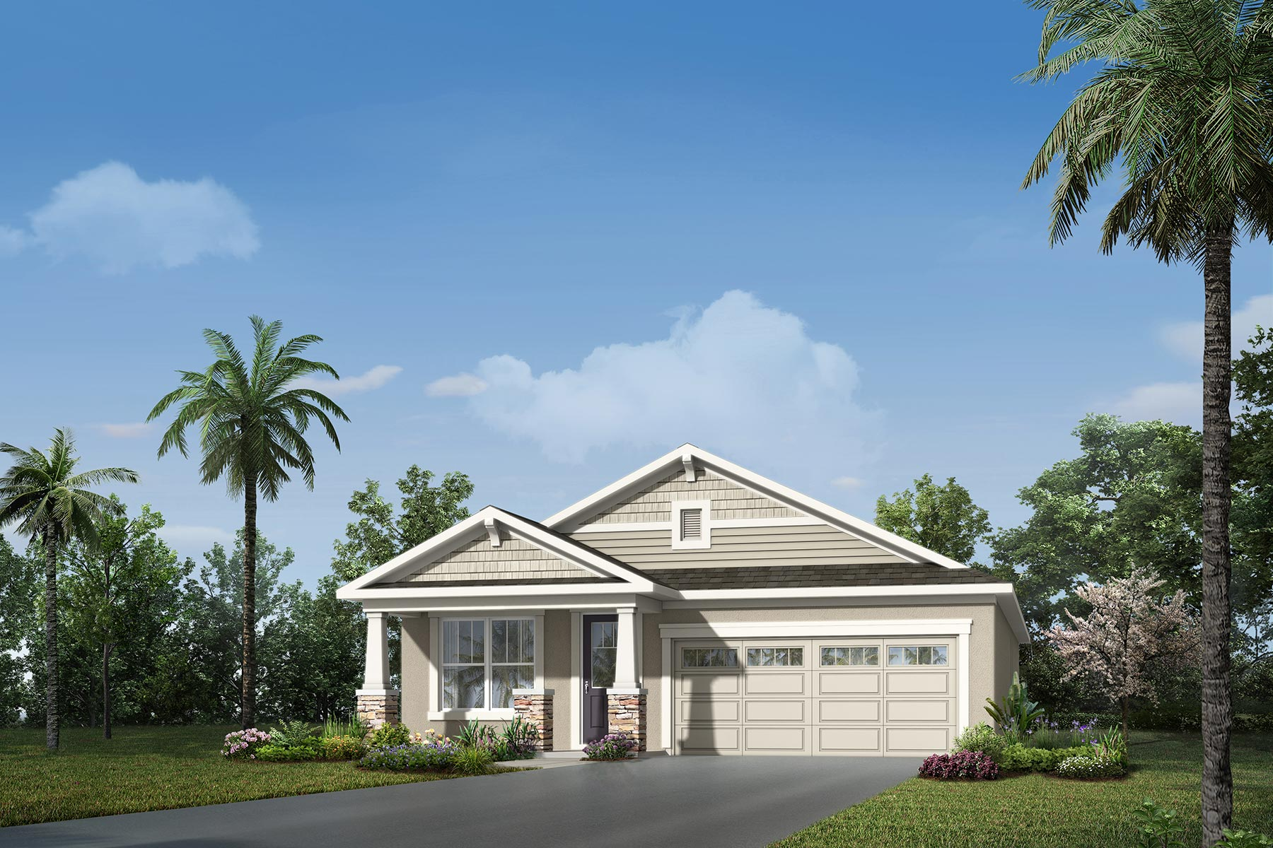 Cypress II Plan Elevation Front at Tohoqua in Kissimmee Florida by Mattamy Homes