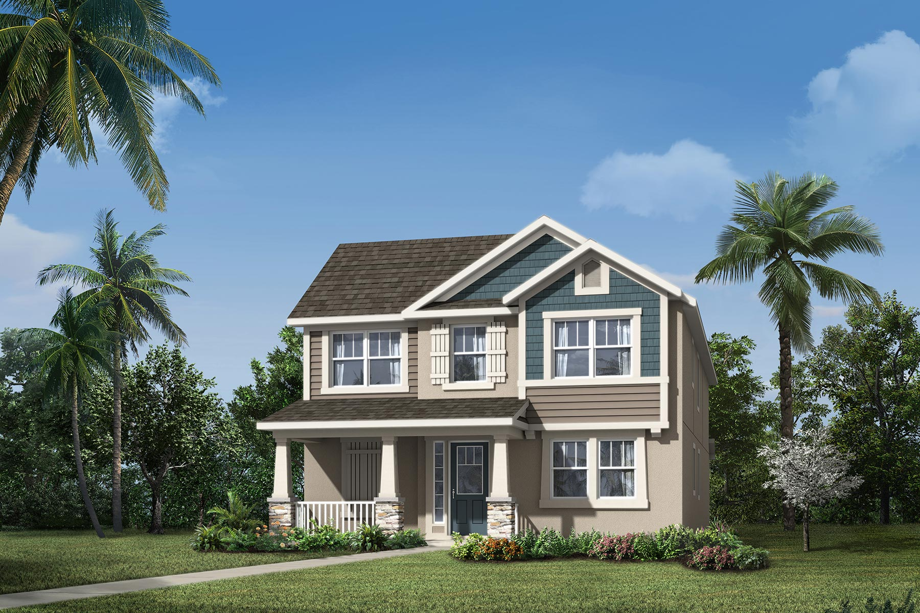 Fremont Plan Elevation Front at Tohoqua in Kissimmee Florida by Mattamy Homes