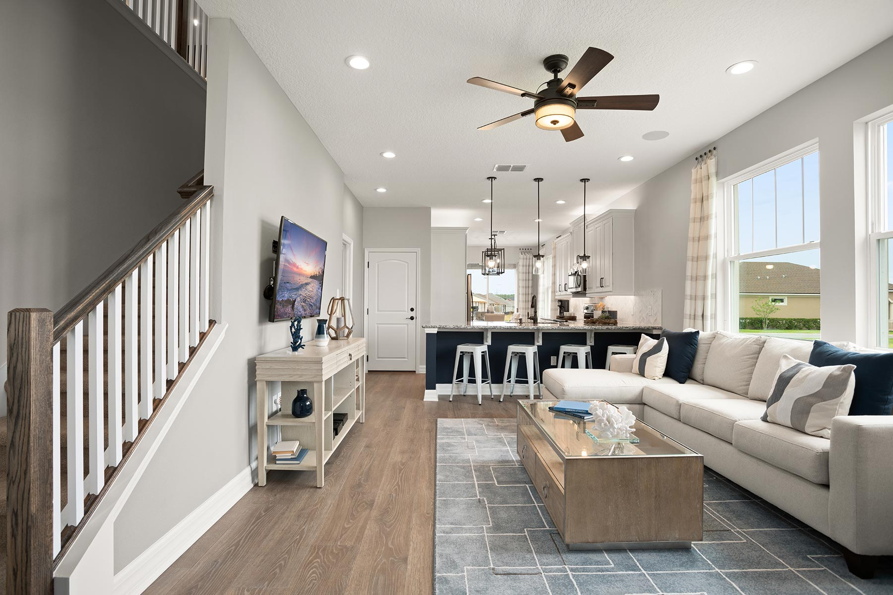 Waterbrooke Greatroom in Clermont Florida by Mattamy Homes