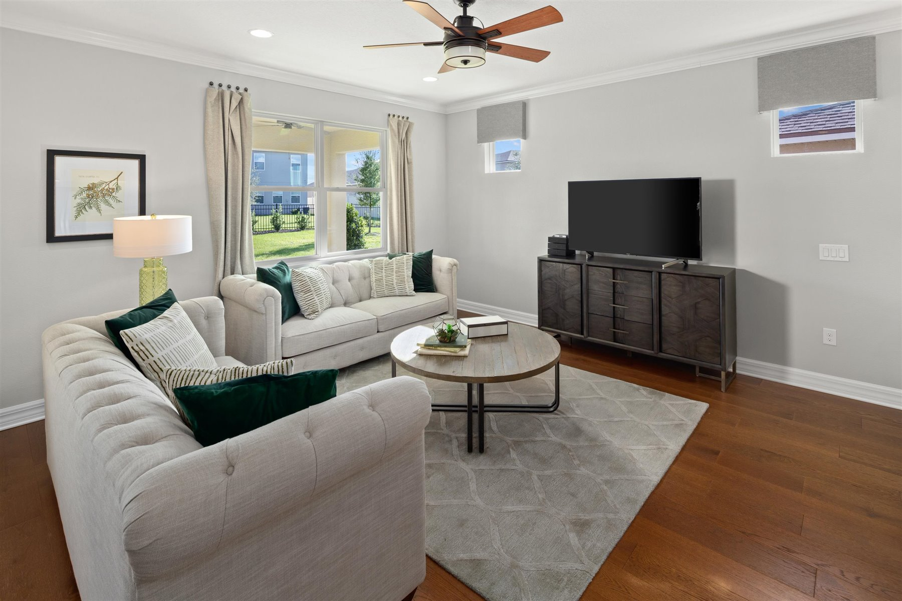 Crescent Plan Greatroom at Waterbrooke in Clermont Florida by Mattamy Homes