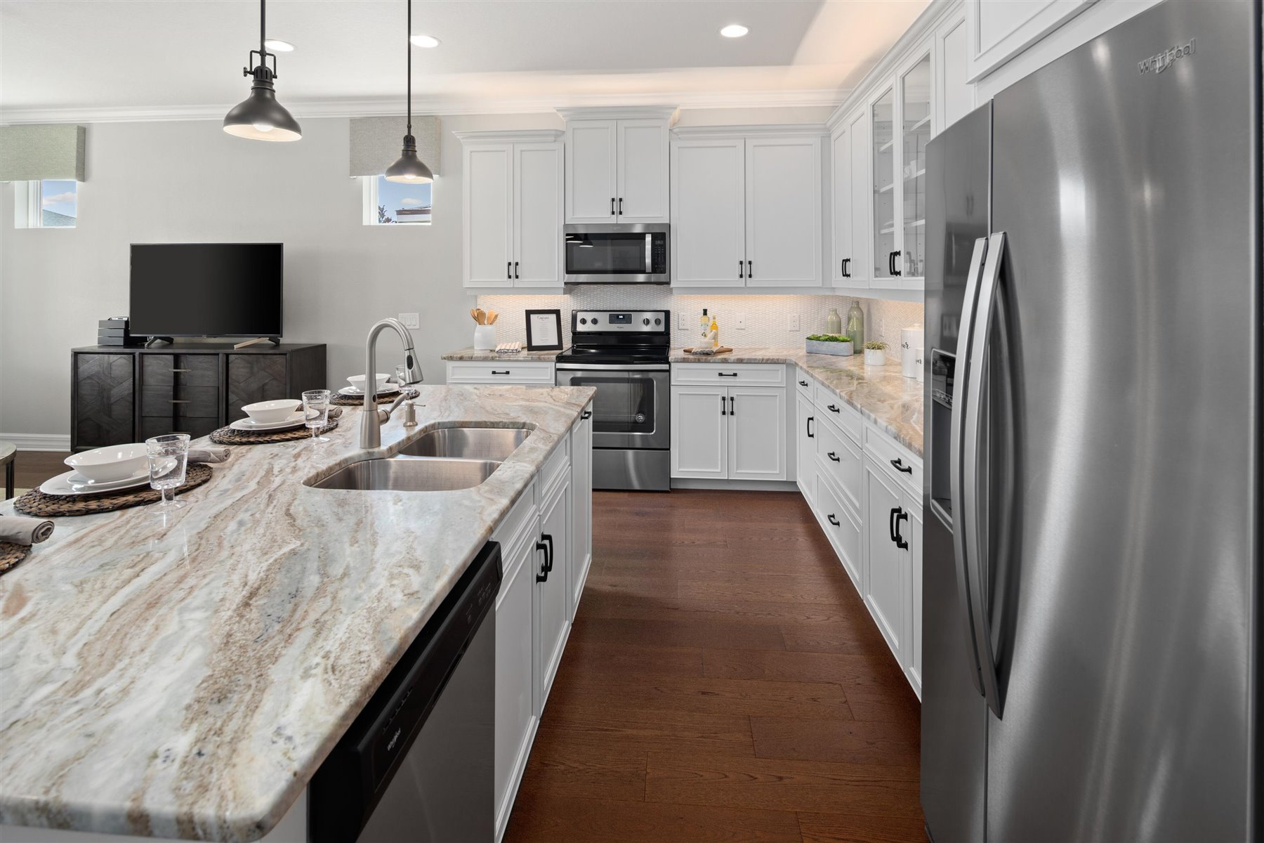 Crescent Plan Kitchen at Waterbrooke in Clermont Florida by Mattamy Homes