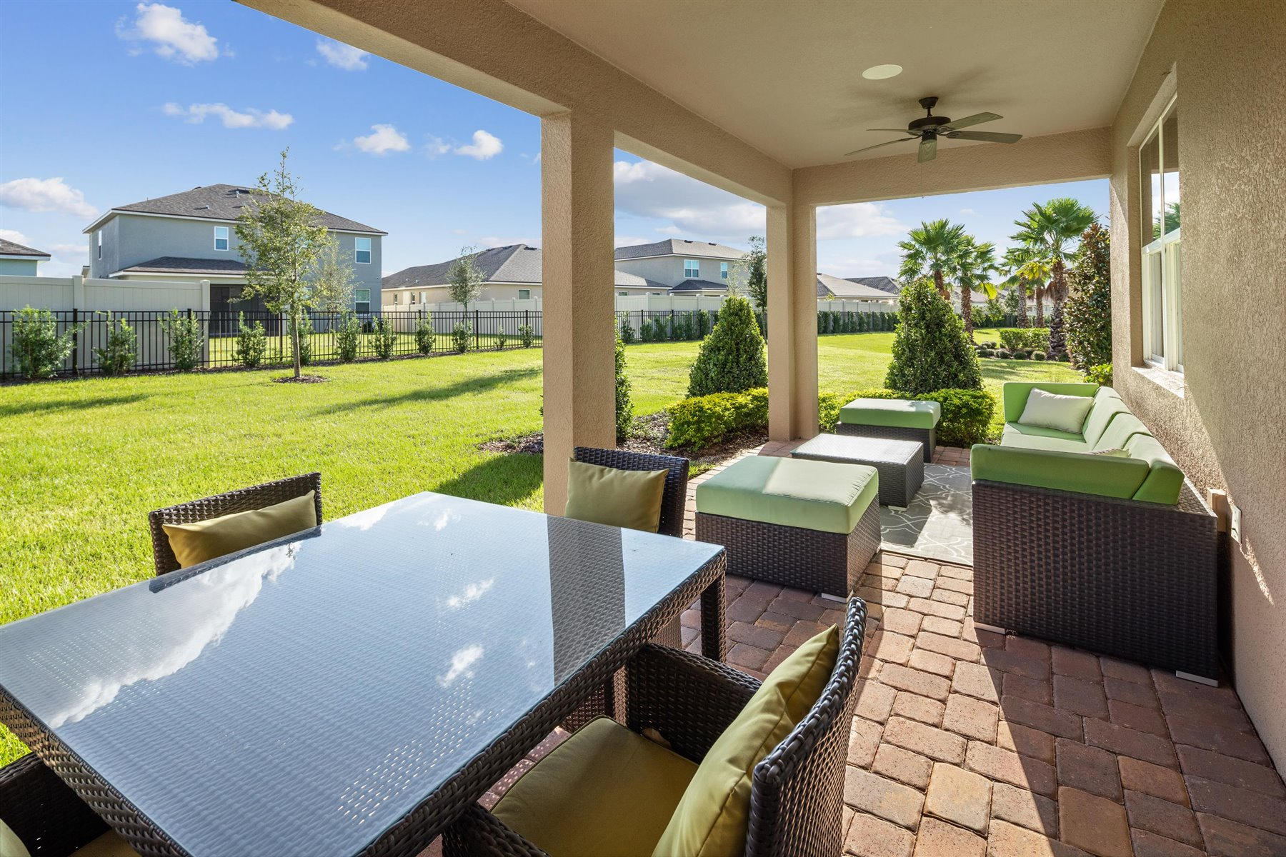 Crescent Plan Patio at Waterbrooke in Clermont Florida by Mattamy Homes